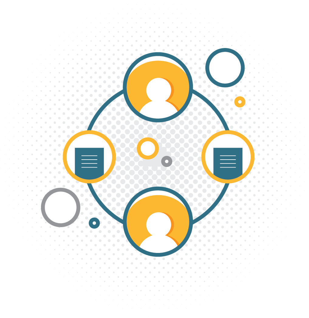 company flowchart illustration