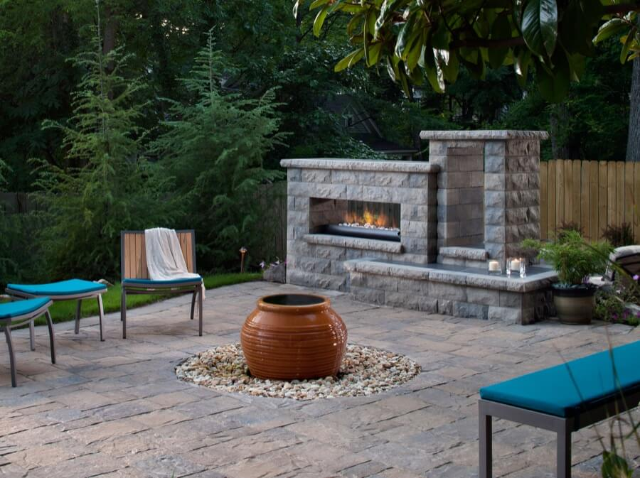45 beautiful outdoor fireplace ideas install it direct. Black Bedroom Furniture Sets. Home Design Ideas