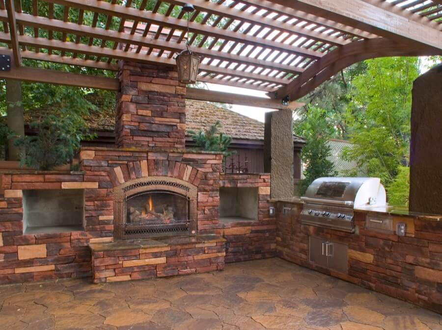 45 Beautiful Outdoor Fireplace Ideas | Install-It-Direct on Outdoor Fireplace Decorations id=34030