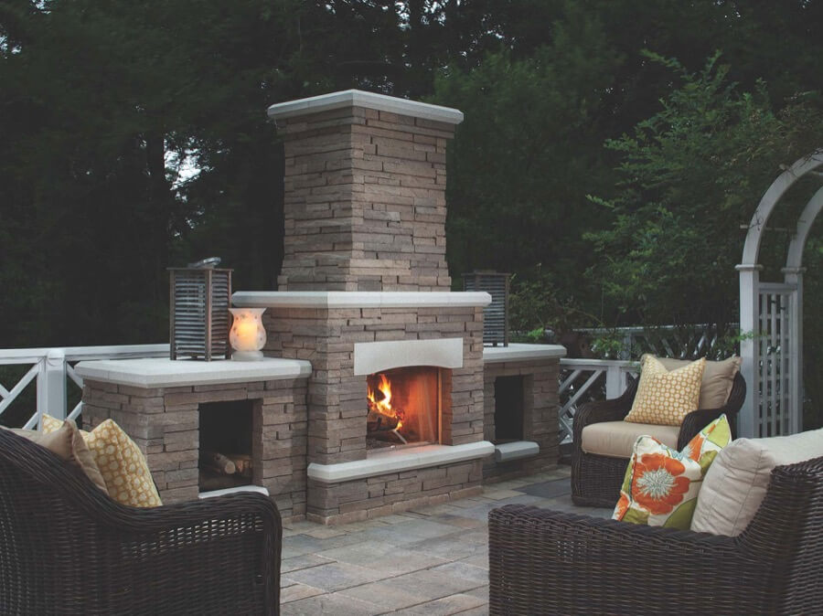 45 Beautiful Outdoor Fireplace Ideas | Install-It-Direct on Small Outdoor Fireplace Ideas id=60168