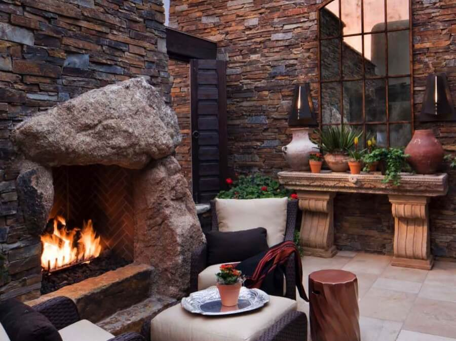 45 Beautiful Outdoor Fireplace Ideas | Install-It-Direct on Small Outdoor Fireplace Ideas id=73776