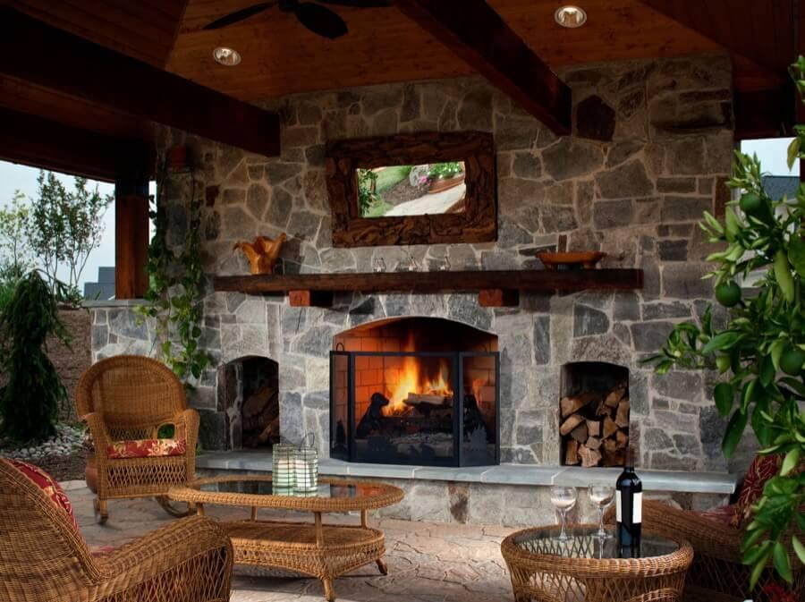 45 Beautiful Outdoor Fireplace Ideas | Install-It-Direct on Outdoor Fireplaces Ideas id=50220