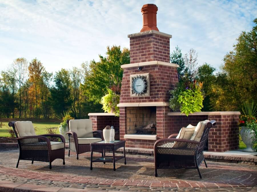 45 Beautiful Outdoor Fireplace Ideas | Install-It-Direct on Brick Outdoor Fireplace Ideas id=93585