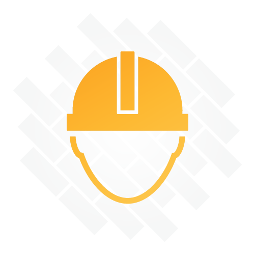 Head with hardhat illustration