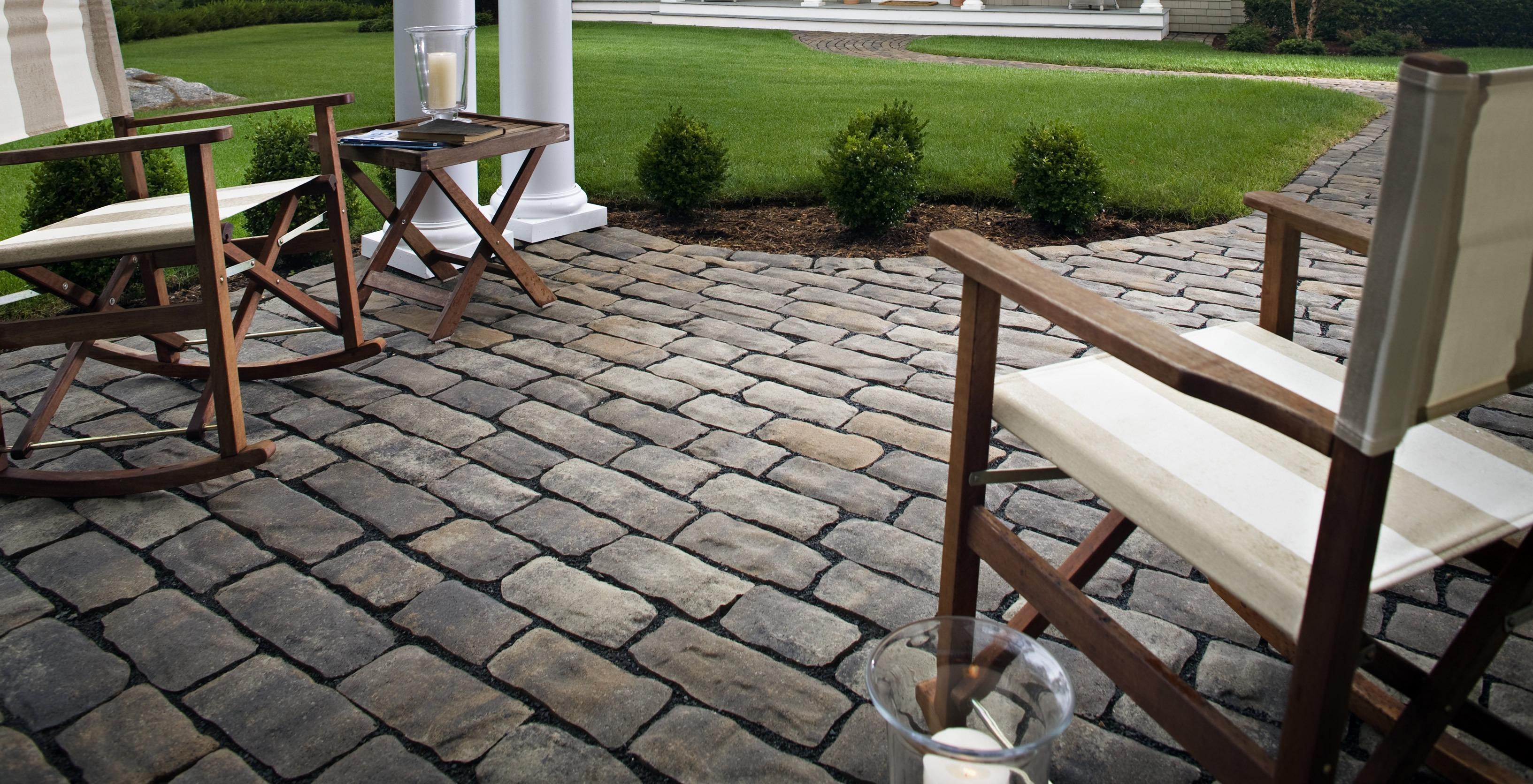 Cobblestone Patio Ideas Home Design Ideas and