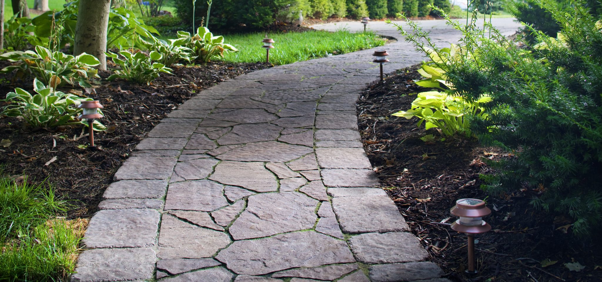 Paver walkway design ideas quotes for Paving designs for small garden path