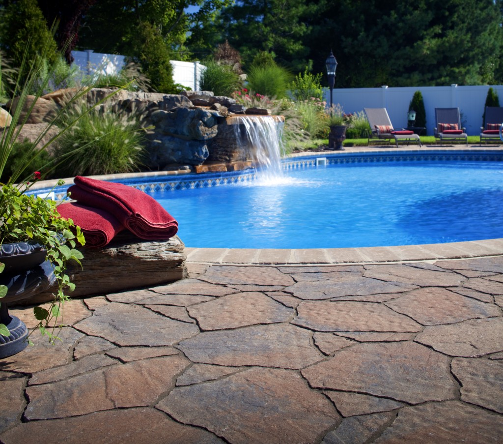Flagstone pavers prices cost breakdown guide install Flagstone pavers around pool