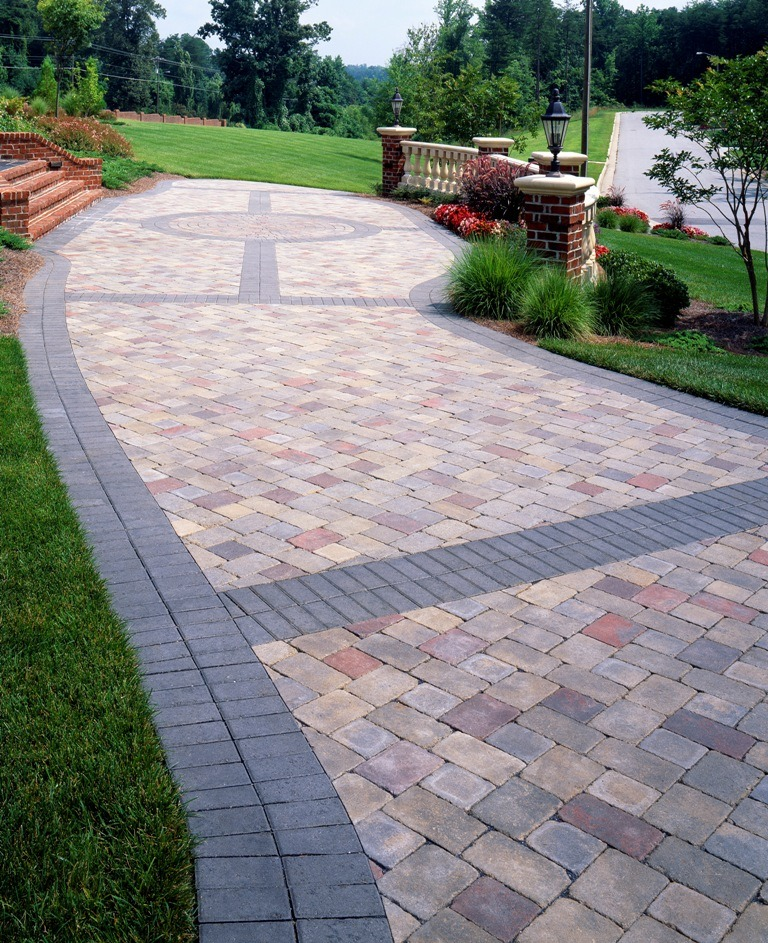 paver banding design ideas for pavers - Paver Patio Design Ideas