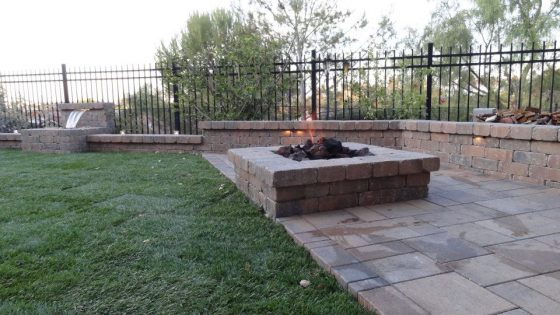 Patio Pavers and Synthetic Turf Makeover