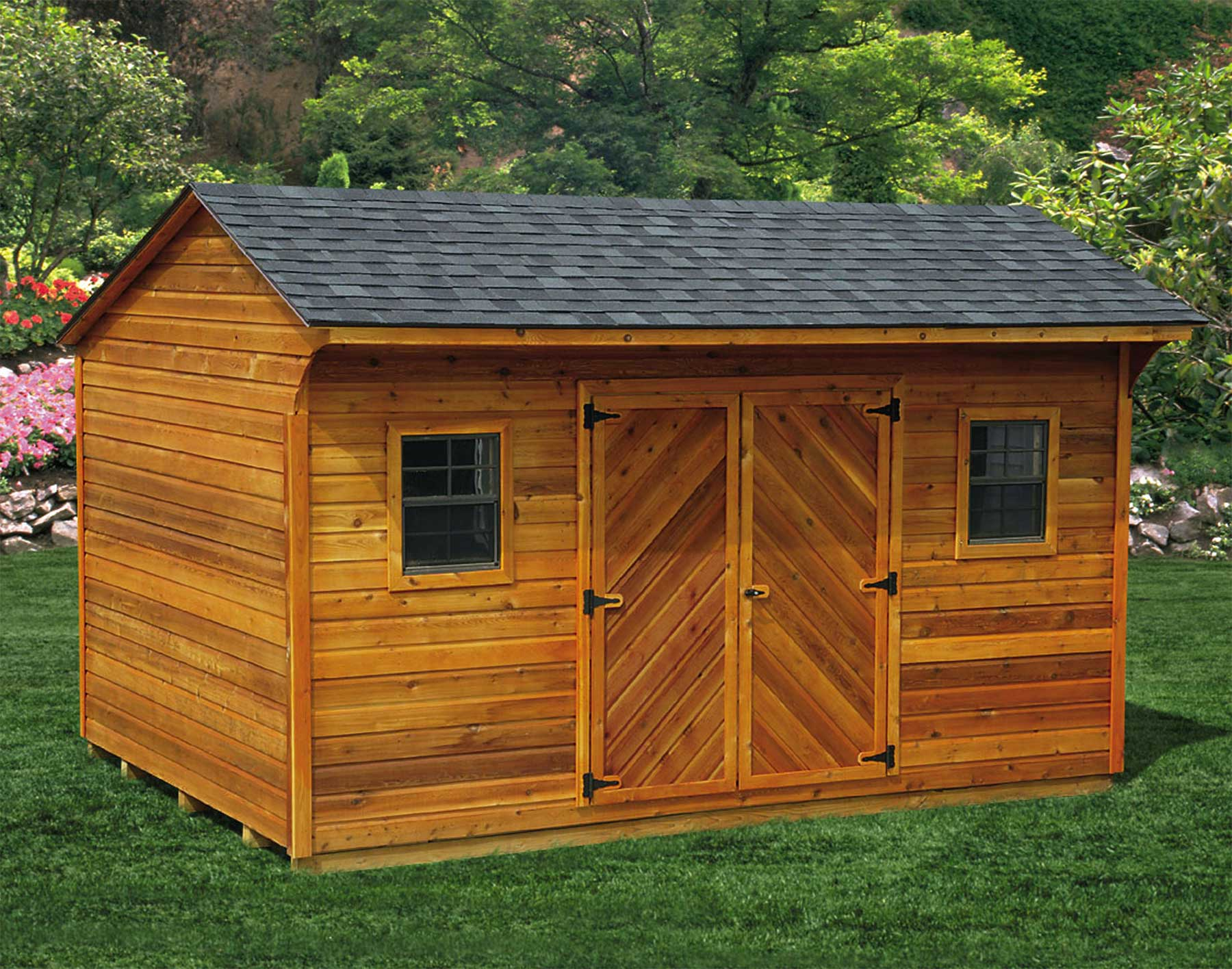 Build a shed in your backyard reap the rewards install for Garden shed pictures