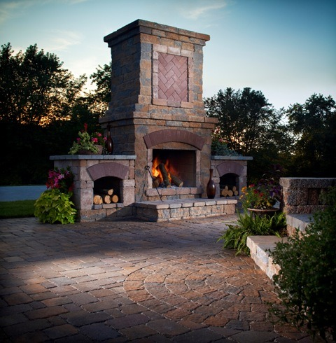 Outdoor Living Fireplace Installation