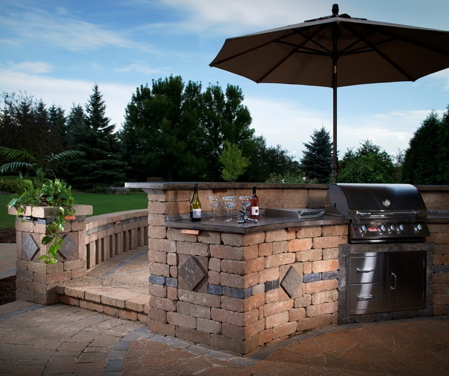 Essentials for a stress free backyard bbq install it direct for Outdoor grill island ideas