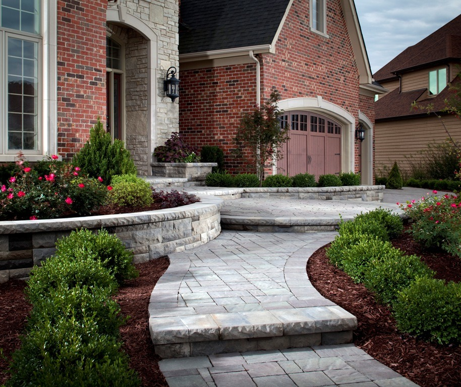 Using A Retaining Wall To Create An Island Flower Bed Install It