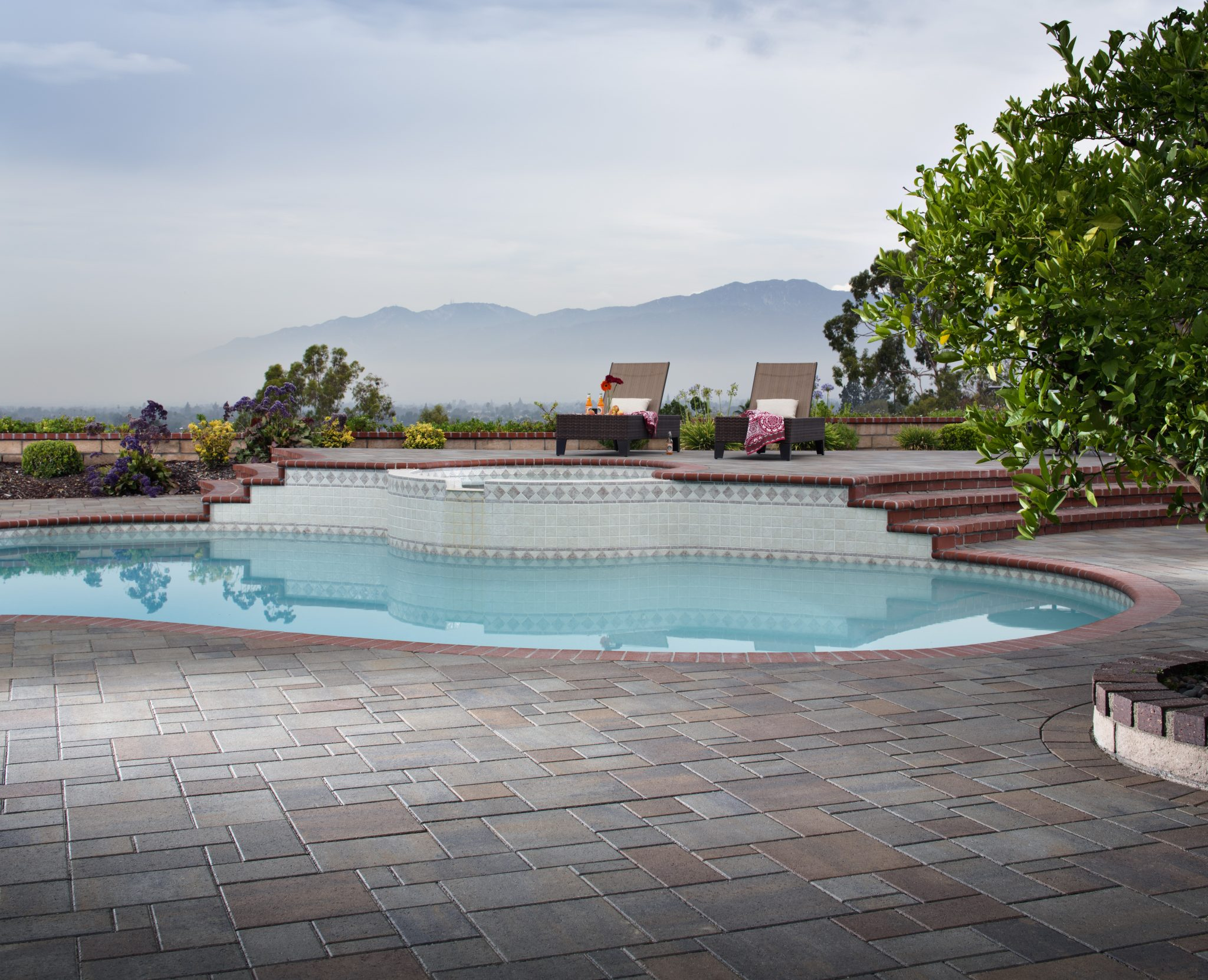pavers pool deck