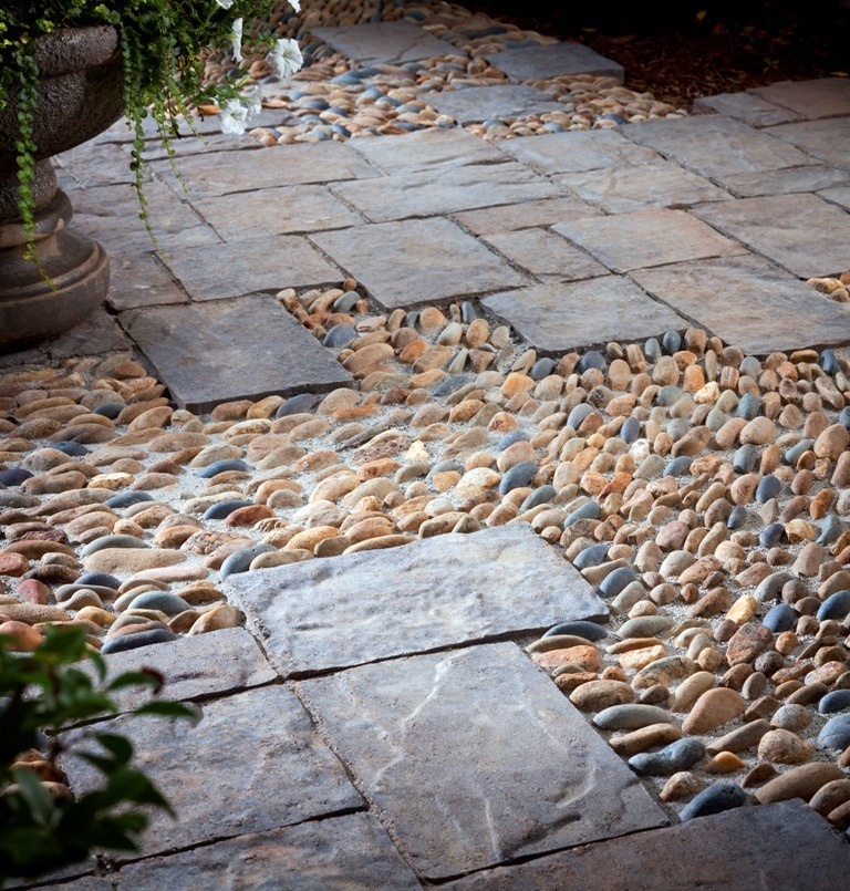 15 creative ideas for concrete pavers install it direct for Paving stone garden designs
