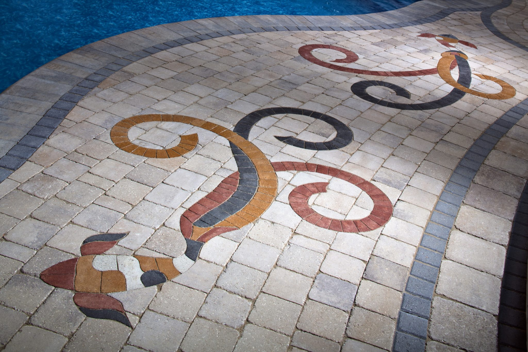 pavers with accent borders