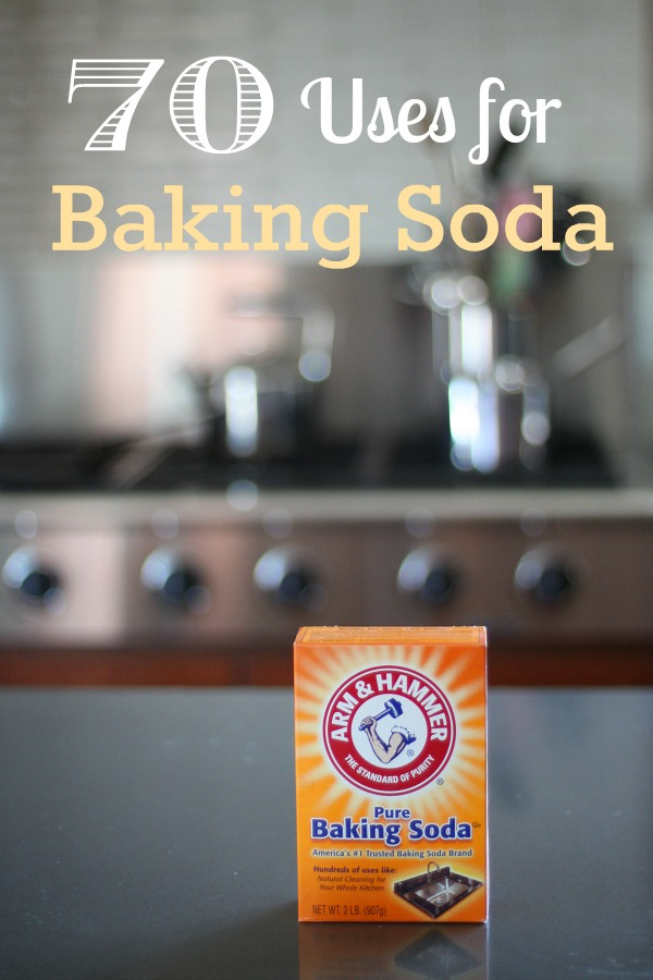 Ways to use baking soda for cleaning & the garden