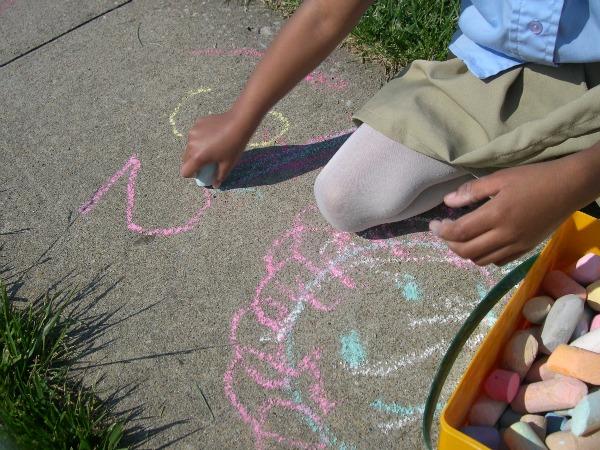 Clean Sidewalk Chalk Off Concrete