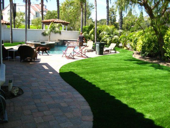 Artificial Turf in San Diego Backyard