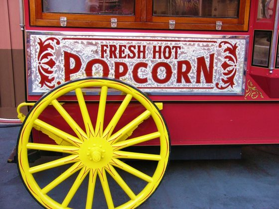 Old-Fashioned Popcorn Machine