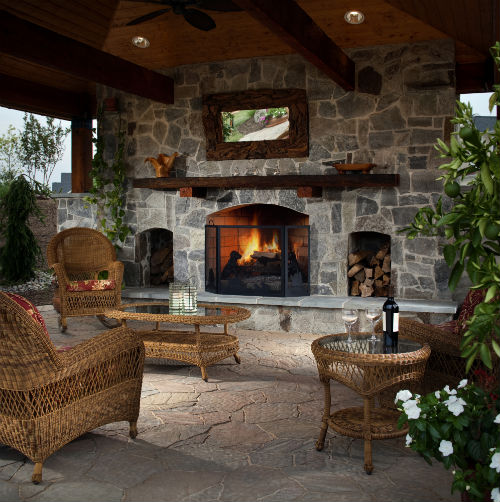 10 easy backyard improvements for outdoor entertaining for Outdoor living room ideas