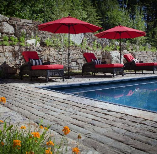 Paver Pool Deck