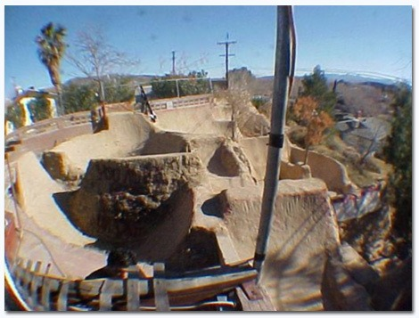 Backyard BMX track