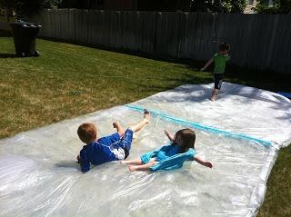 Backyard waterbed