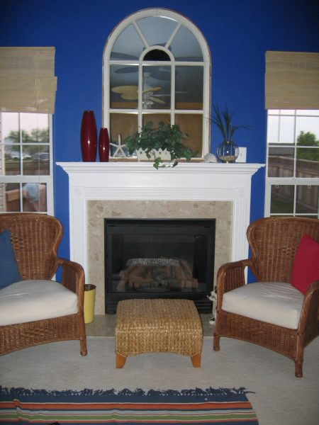 Resurface your fireplace: A fireplace is often the focal point of the room