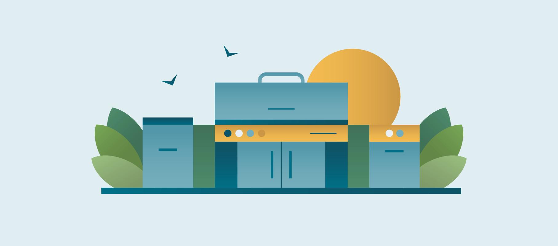 Basic Outdoor Kitchen Illustration