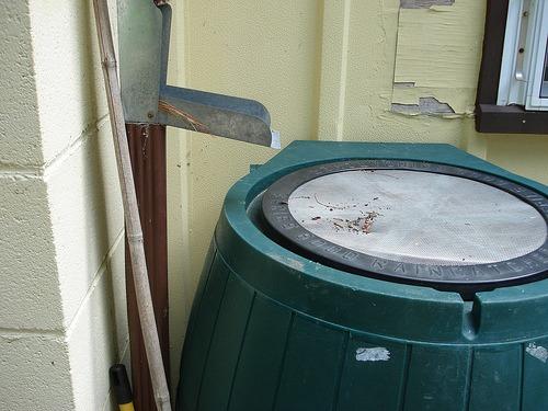 rain barrel screen