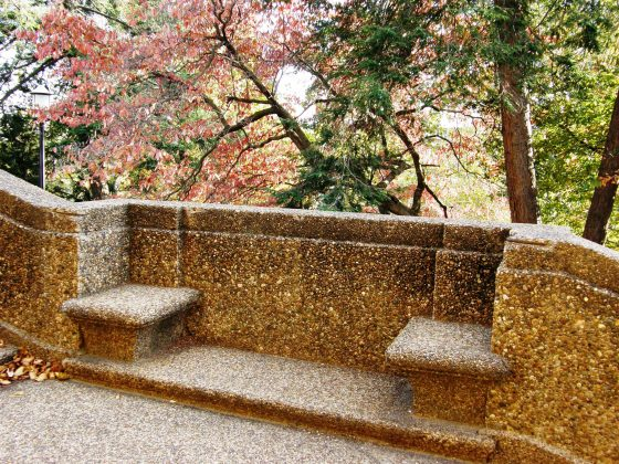 Stone Wall Seating