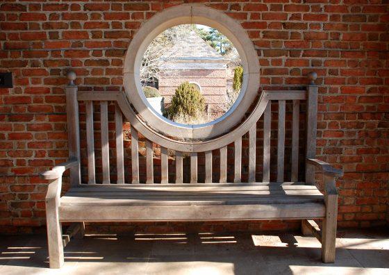 Custom-built benches don't block views.