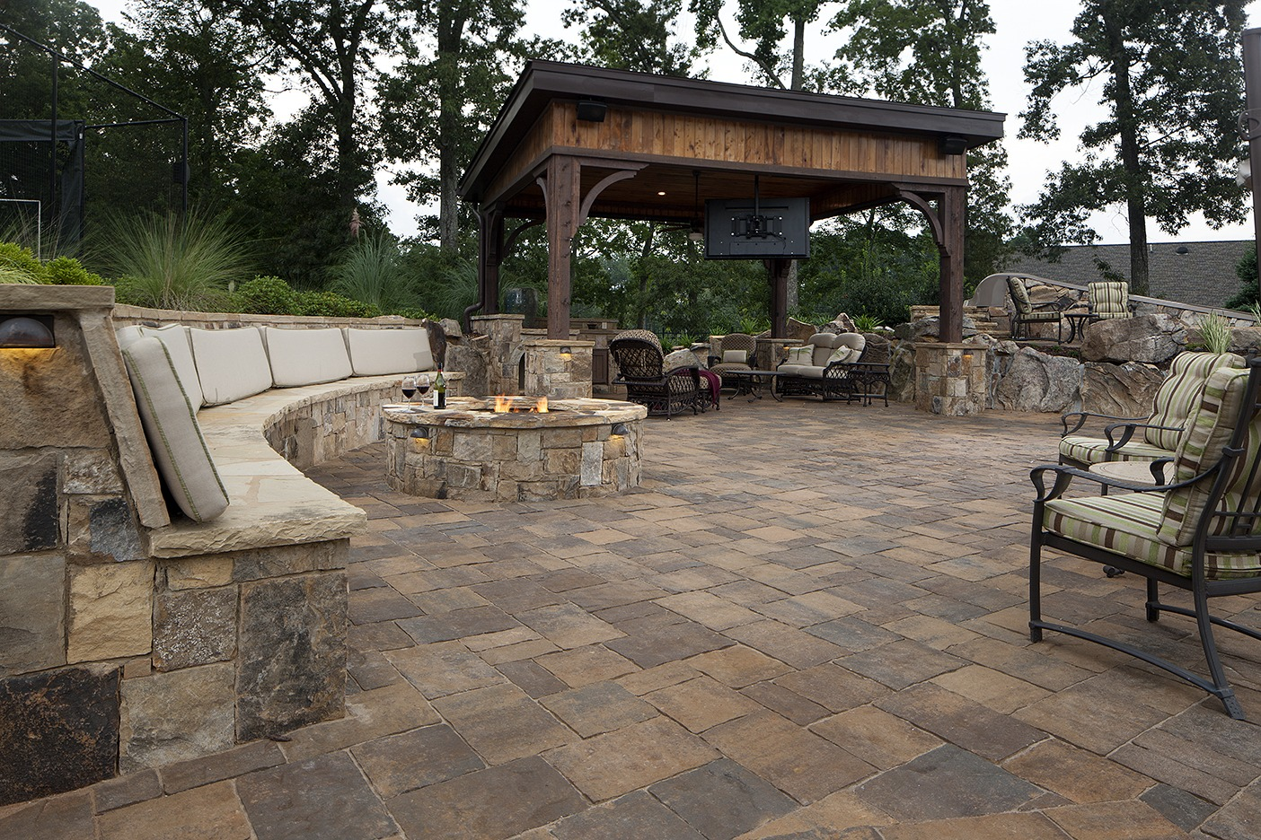 Paver Patio With Fireplace. Fire Pit Safety Tips Paver Patio With Fireplace