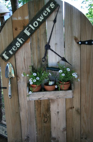 Maximize space by getting creative with flower pot placement.