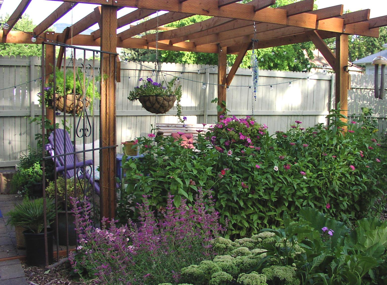 Pergola with Hanging Plants