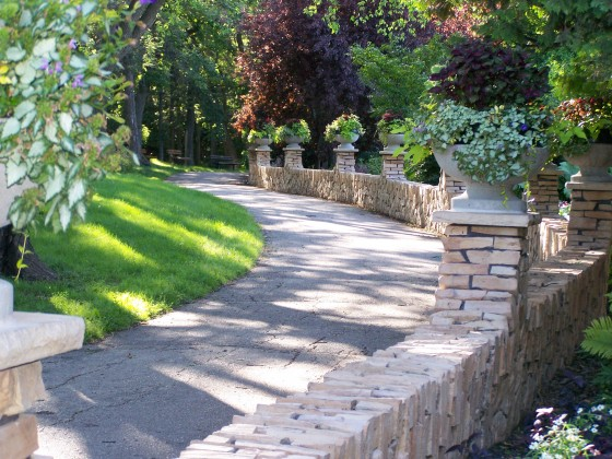 A separate walkway adds privacy.