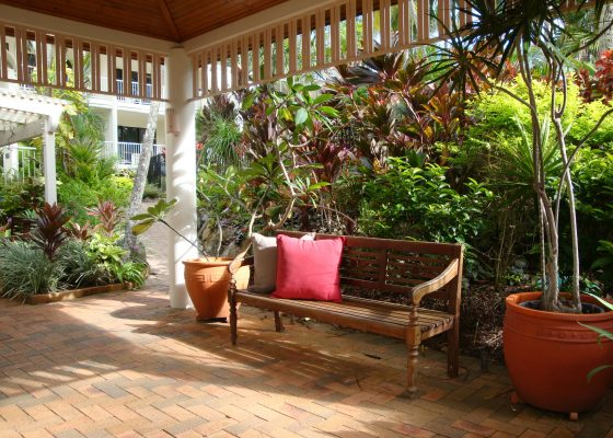 Create attractive outdoor living spaces.