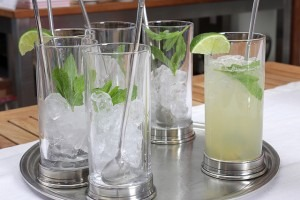garden herbs in cocktails