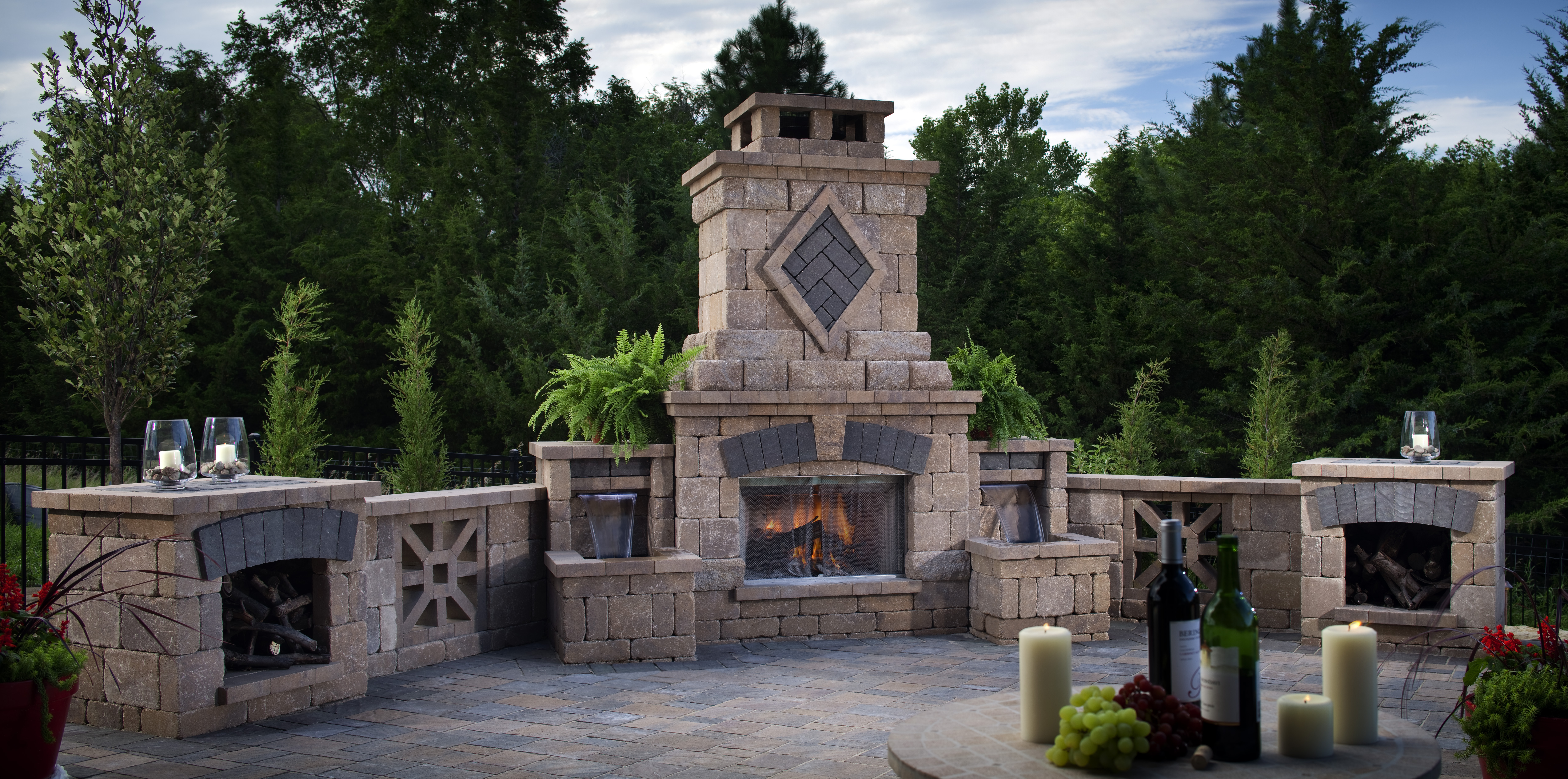 36 landscape design terms you need to know install it direct for Exterior fireplace