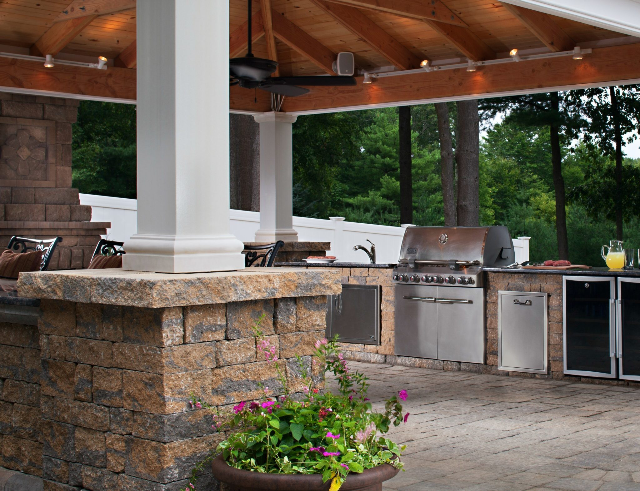 backyard kitchen patio ideas various design