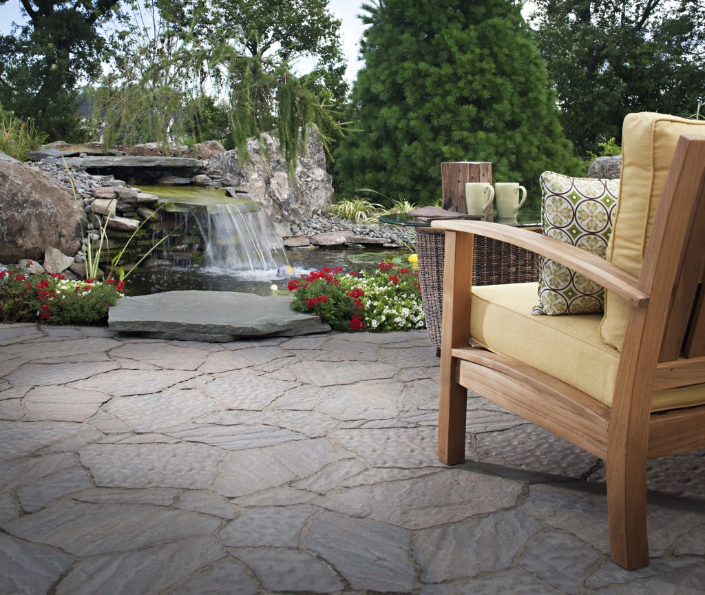 water features outdoors