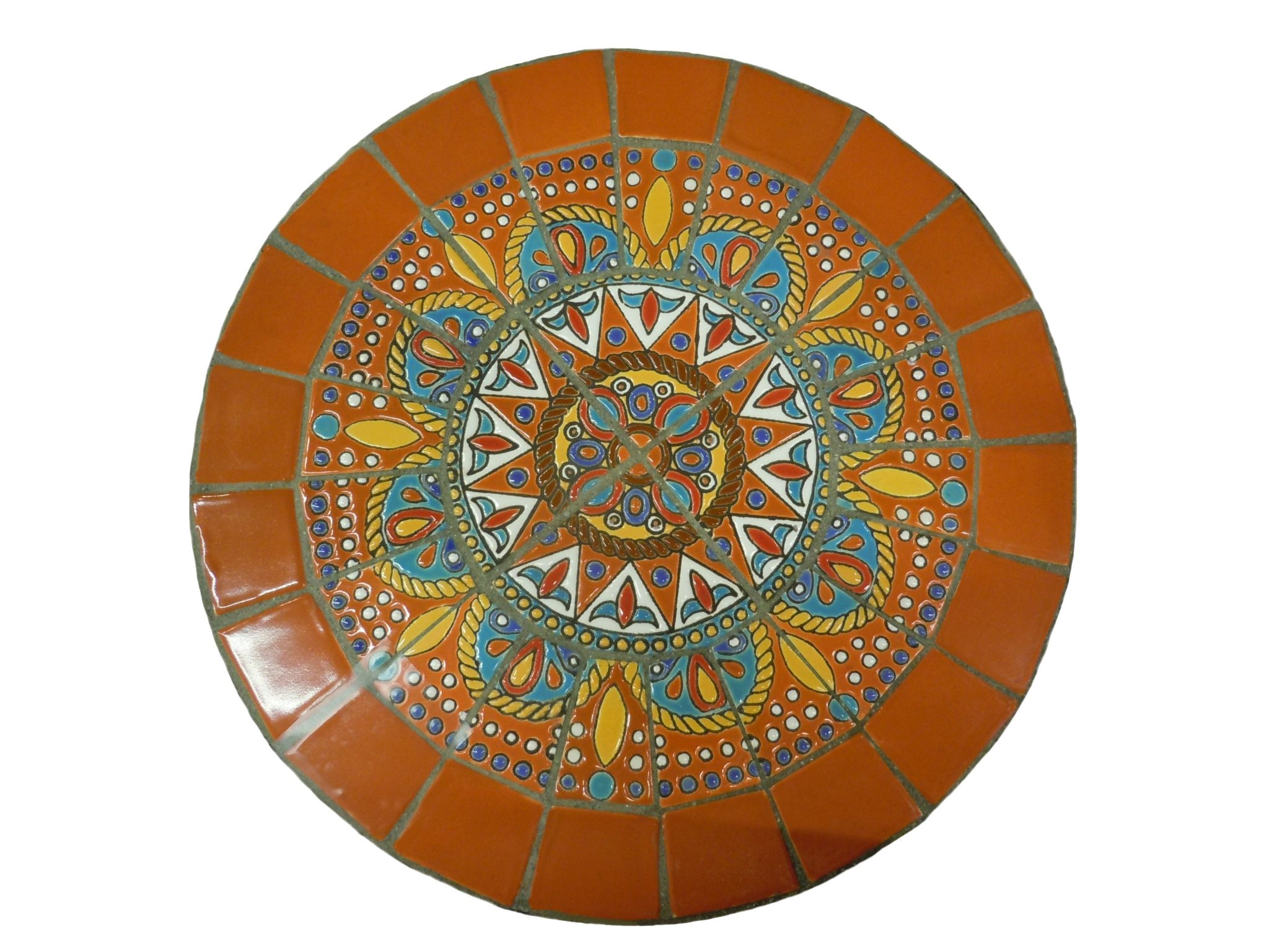 Mosaics can be made from broken tiles or broken china.