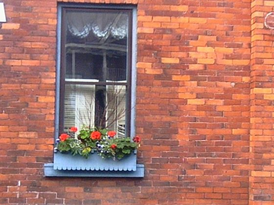 Brick Wall with Window Box