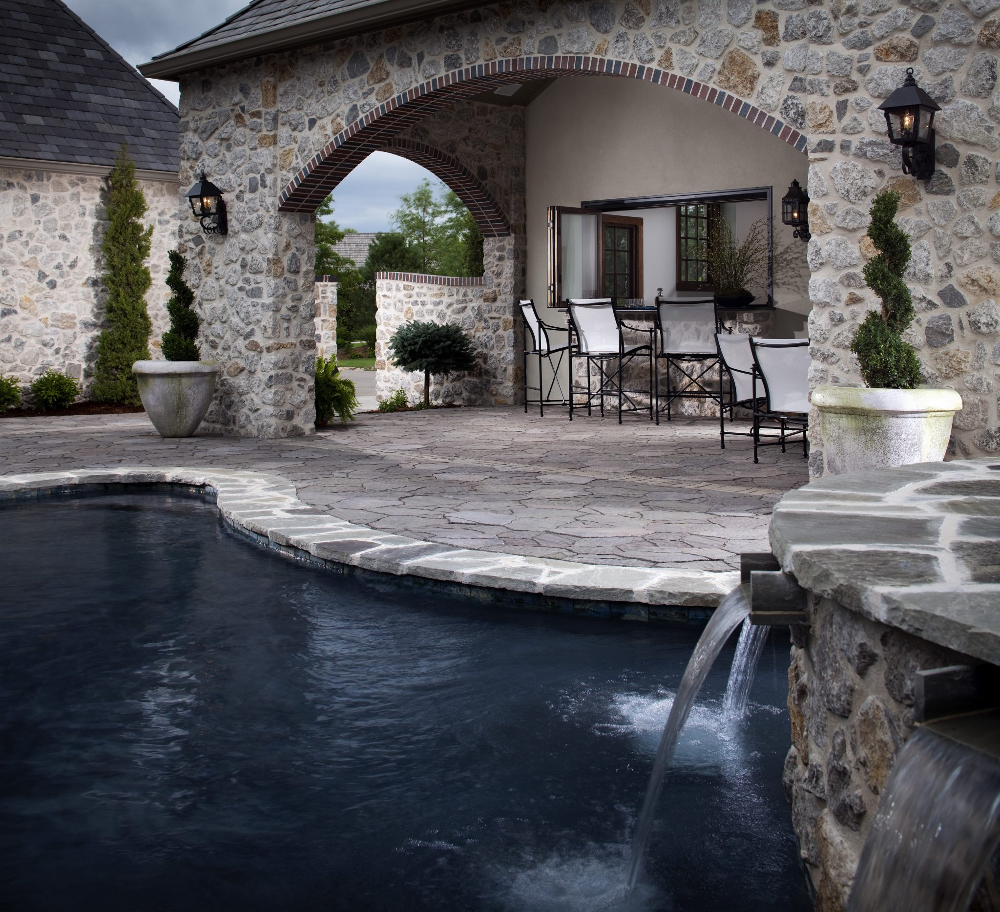 Paving Stone Pool Deck