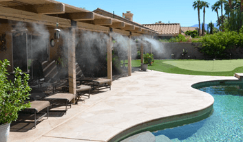 Misters for backyards