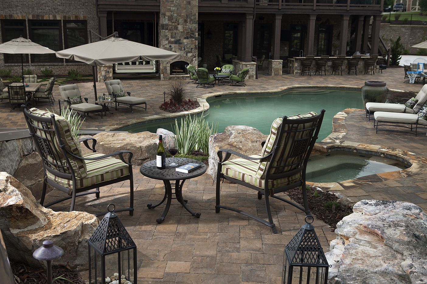 How to landscape around an inground pool install it direct for Landscapers in my area