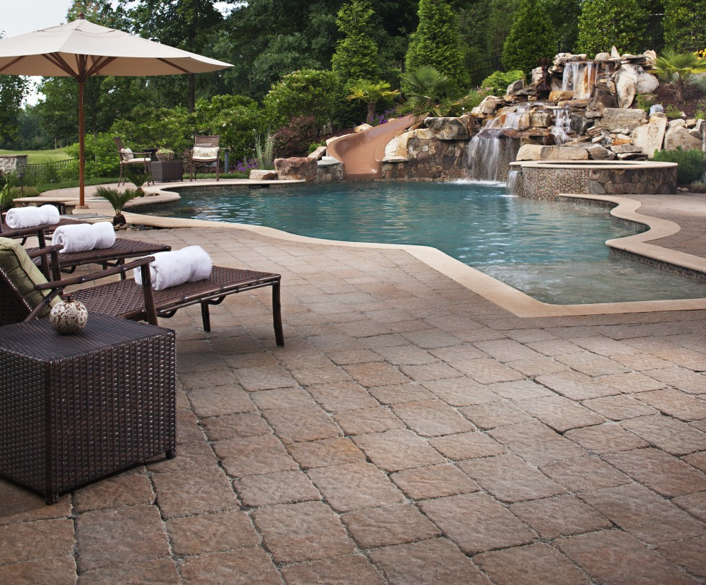 pool deck landscape