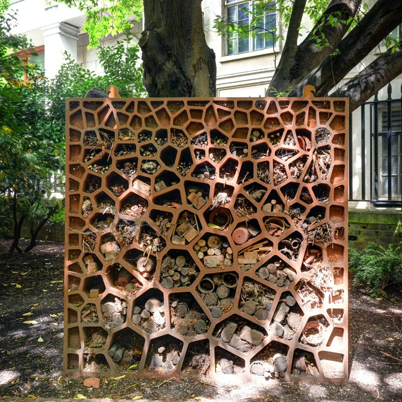 Geometric insect hotel