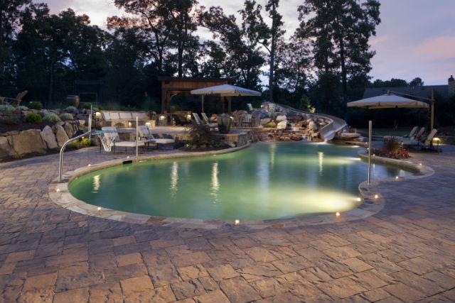 Landscaping near pool